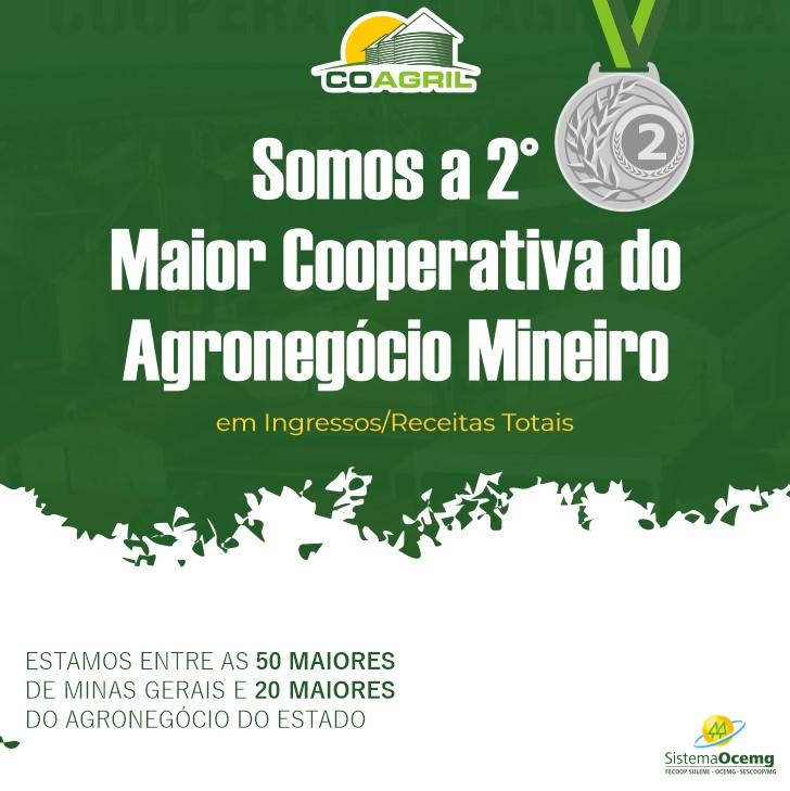 Seguimos entre as maiores cooperativas de Minas Gerais