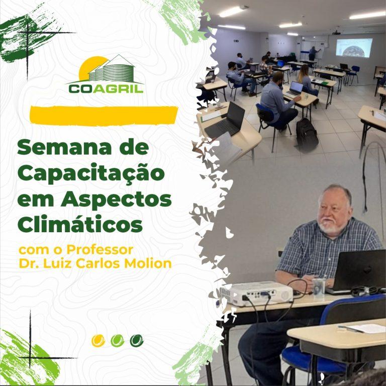 Semana de capacitação em aspectos climáticos com o Prof. Dr. Luiz Carlos Molion