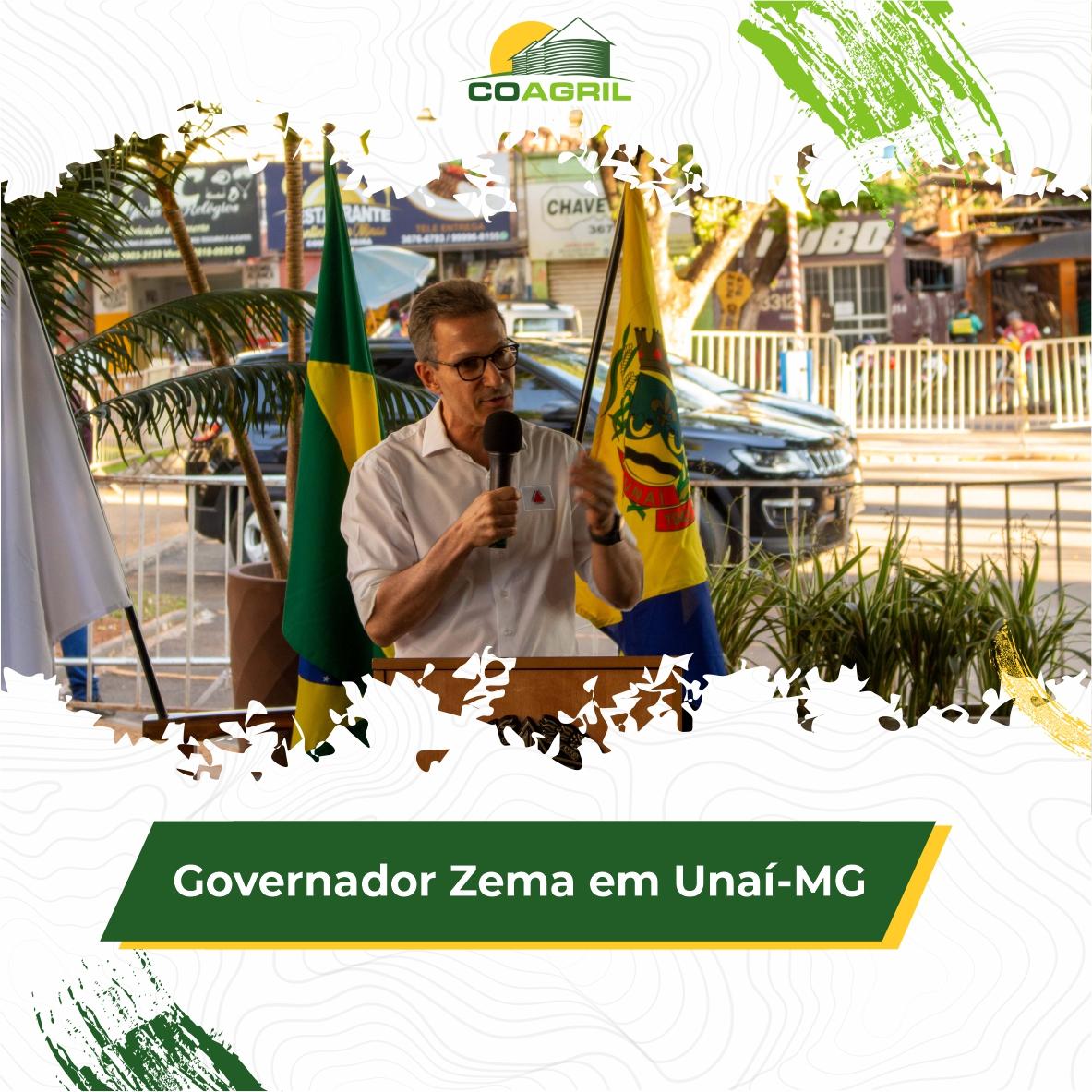 Governador Romeu Zema visita Unaí-MG